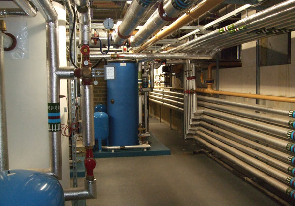 Benenden School basement heating room