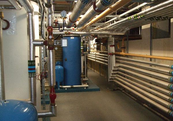 Benenden School basement heating room